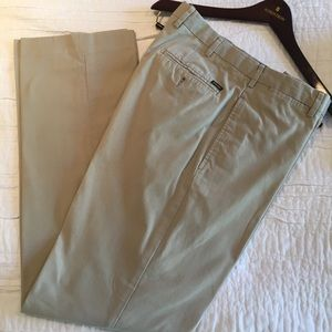 Faconnable Flat Front Cotton Oxford Pant